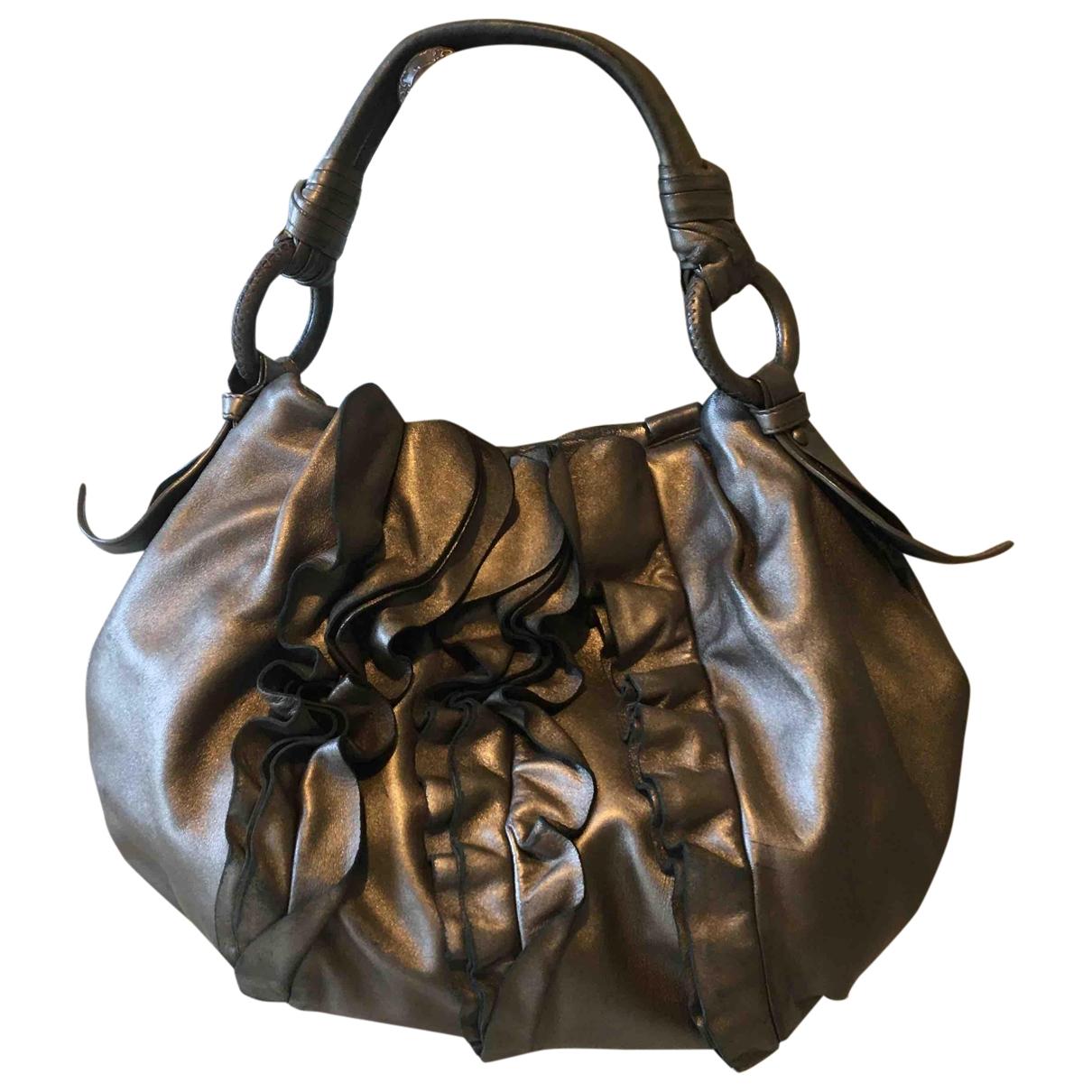 Prada \N Handtasche in  Metallic Leder