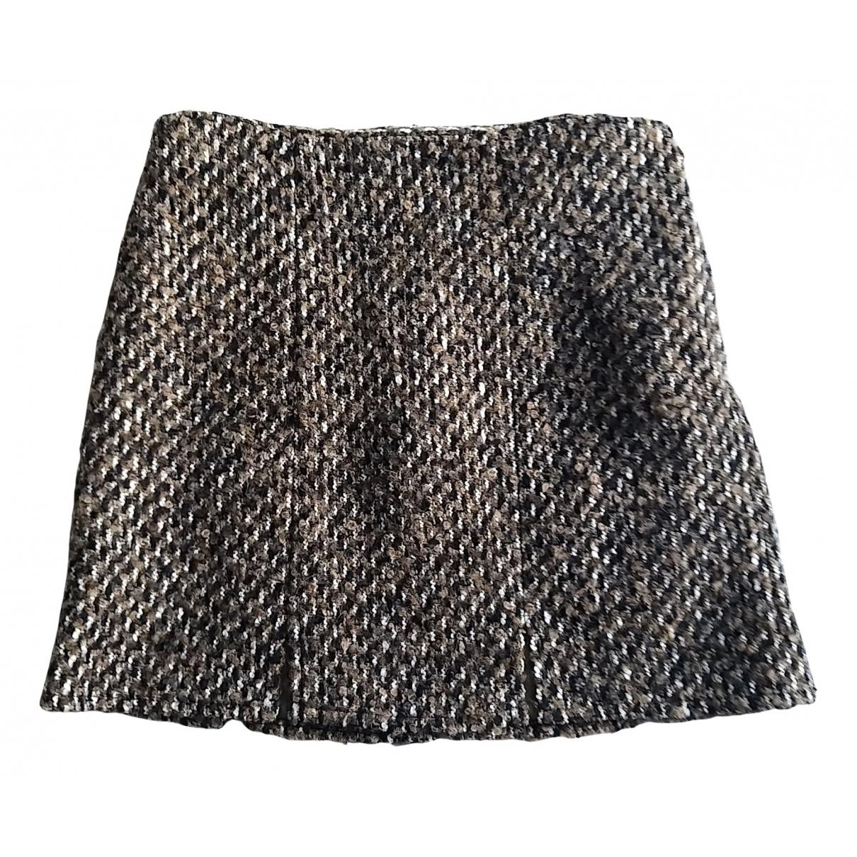 Patrizia Pepe N Camel Wool skirt for Women 32 FR