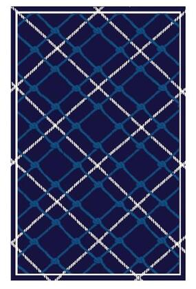 25686D 5 x 8 ft. Sumatran Area Rug  in Blue and