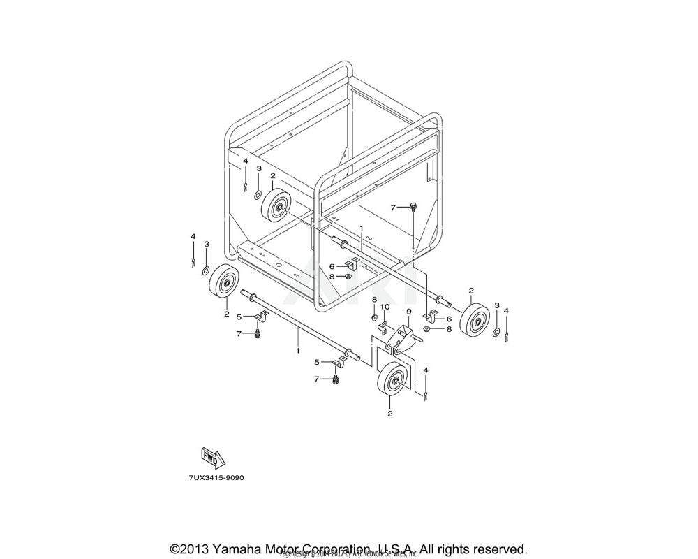 Yamaha OEM YA3-1G610-26-01 CLAMP | (7UX2)