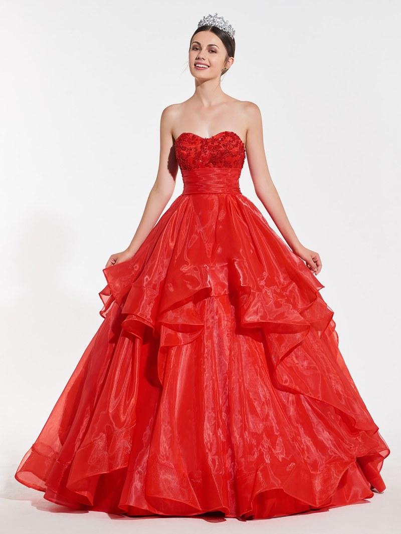 Ericdress Sweetheart Ruffles Ball Quinceanera Dress
