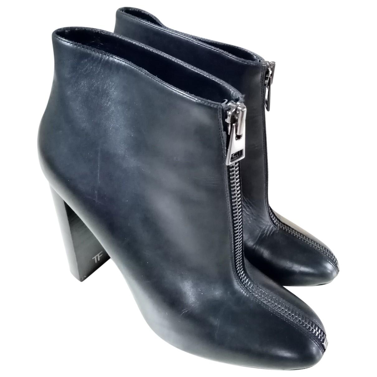 Tom Ford - Boots   pour femme en cuir - noir