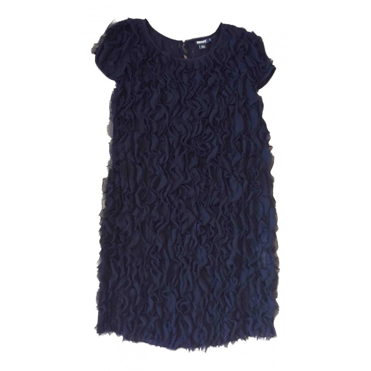 Donna Karan \N Kleid in  Schwarz Seide