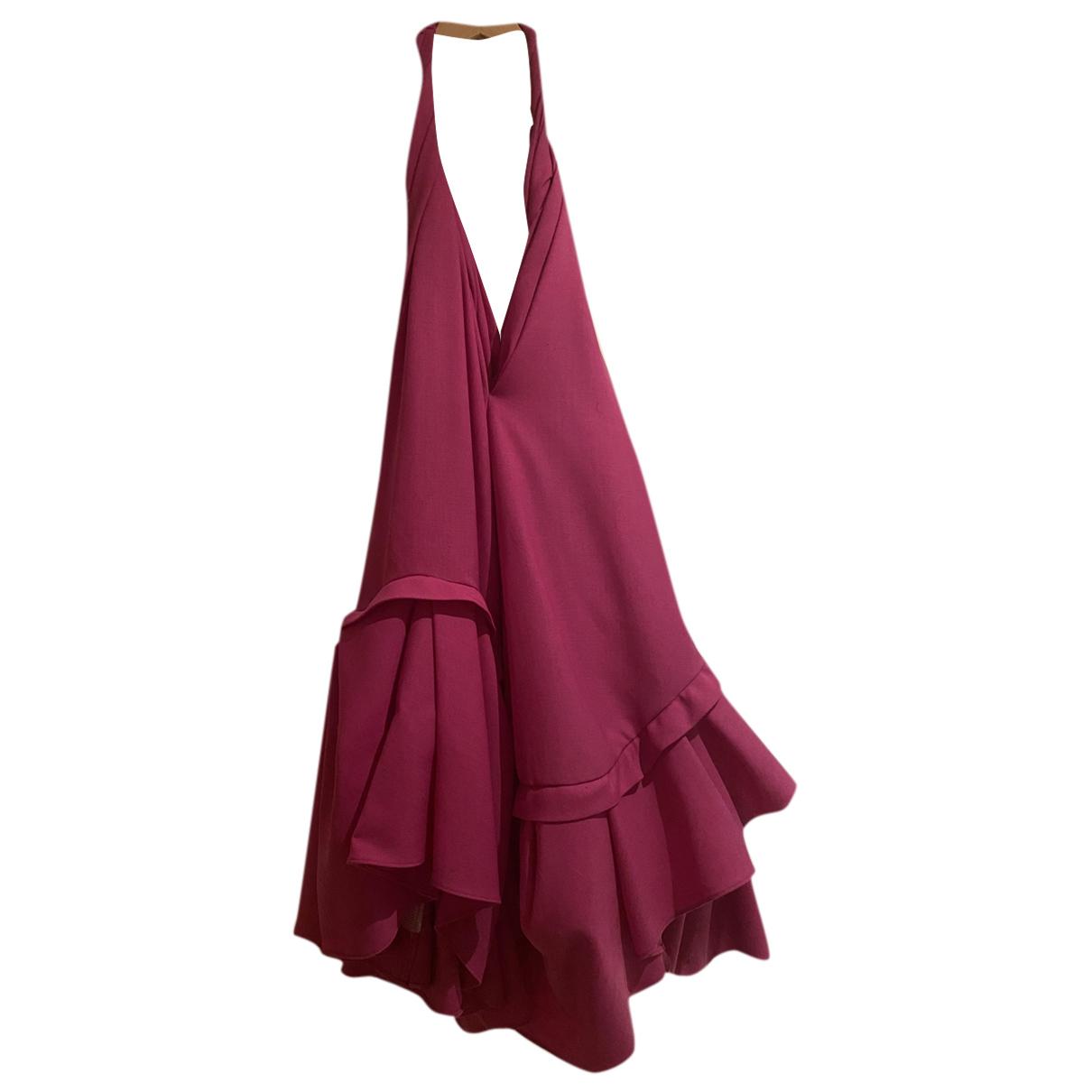 Jacquemus - Robe La Riviera pour femme en laine - rose