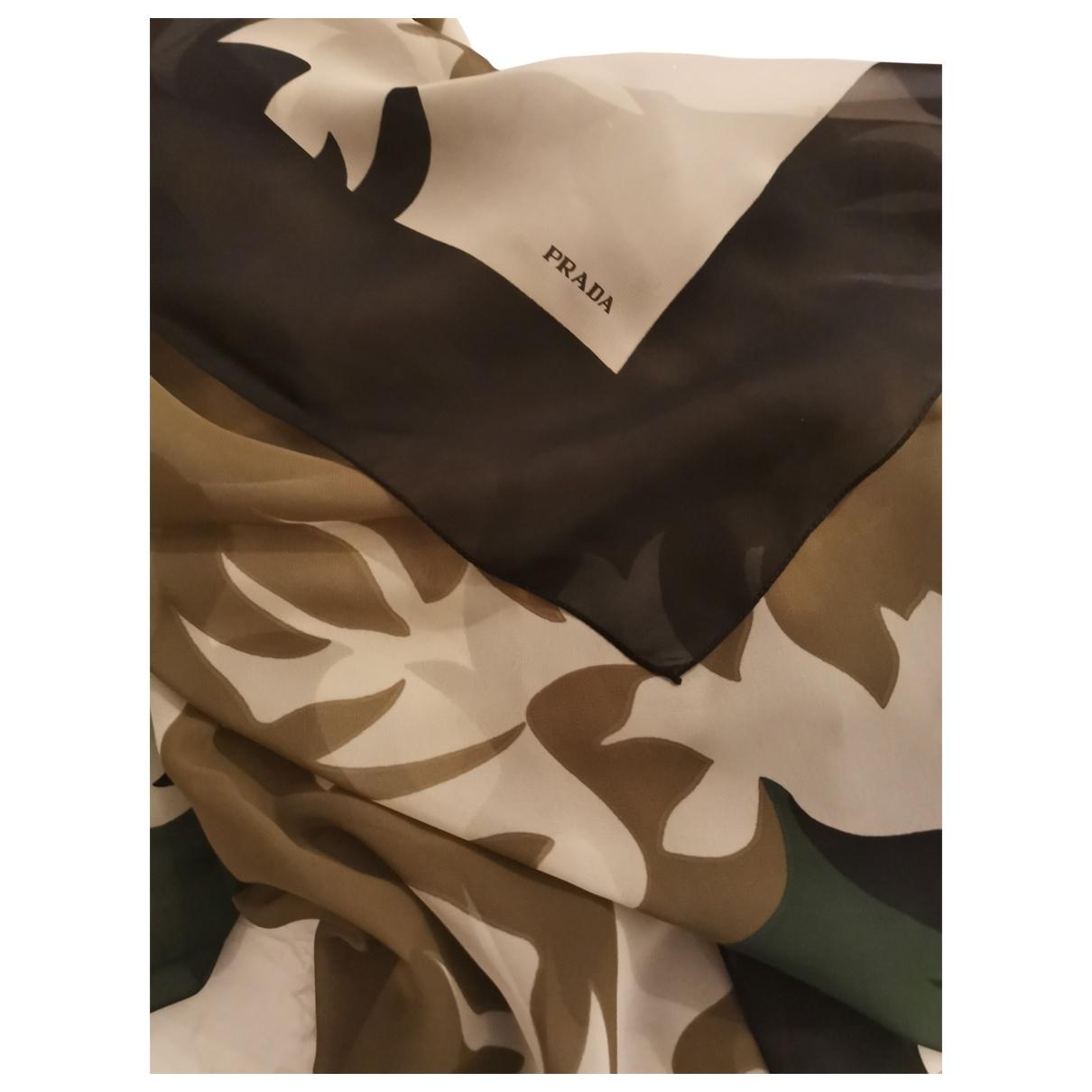 Prada \N Schal in  Braun Polyester