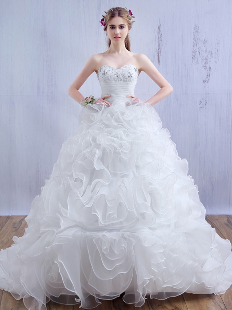 Ericdress Appliques Beading Sweetheart Ball Gown Wedding Dress