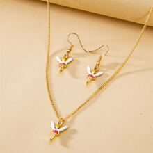 3pcs Angel Charm Jewelry Set