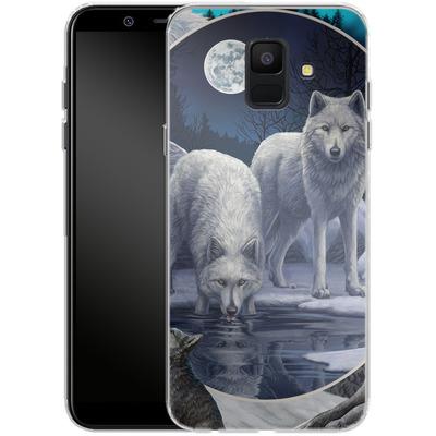 Samsung Galaxy A6 Silikon Handyhuelle - Wild Wolves von Lisa Parker