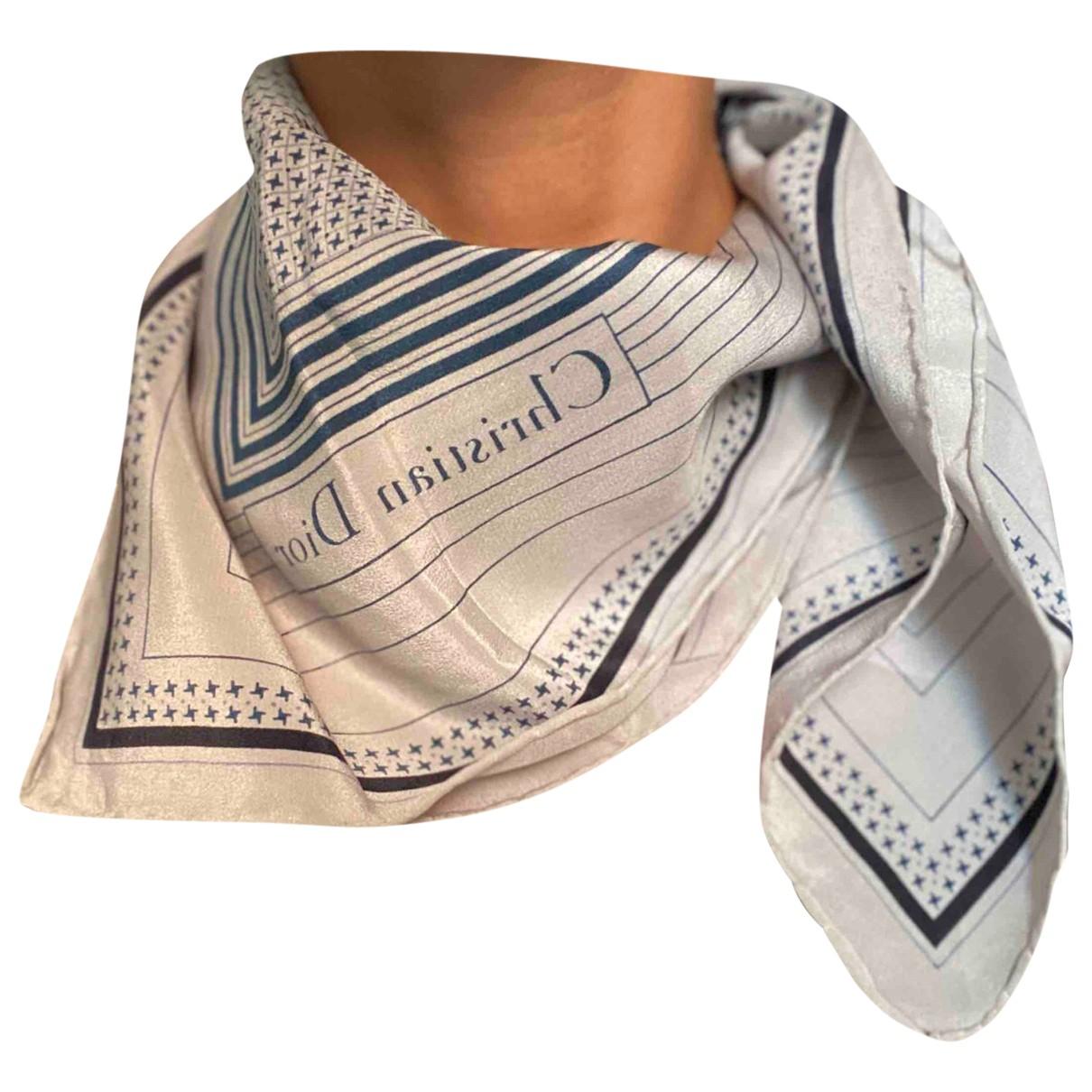 Dior \N Schal in  Grau Seide