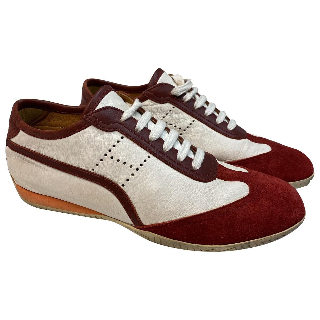 Hermès \N White Leather Trainers for Women 38 EU