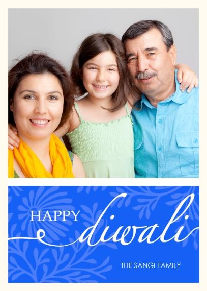 Diwali Cards 5x7 Folded Cards, Premium Cardstock 120lb, Card & Stationery -Happy Diwali