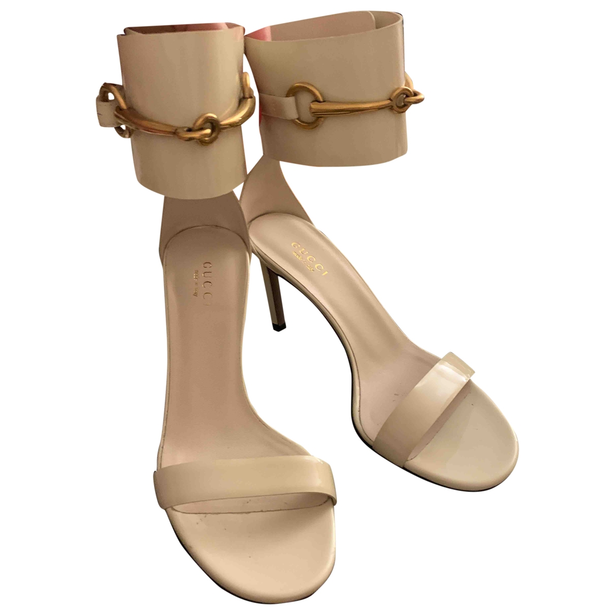 Gucci \N Beige Patent leather Sandals for Women 35 EU