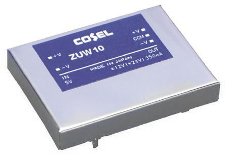 Cosel 10.5W Isolated DC-DC Converter Through Hole, Voltage in 18 → 36 V dc, Voltage out ±15V dc
