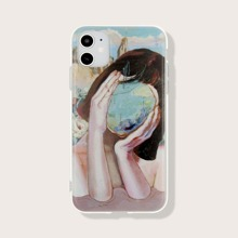 Funda de iphone con estampado de figura