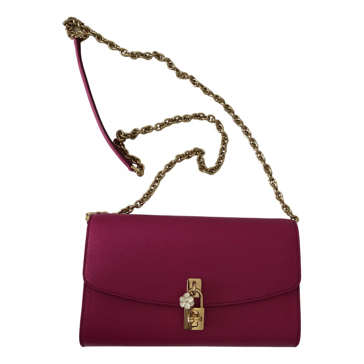 Dolce & Gabbana \N Clutch in  Rosa Leder