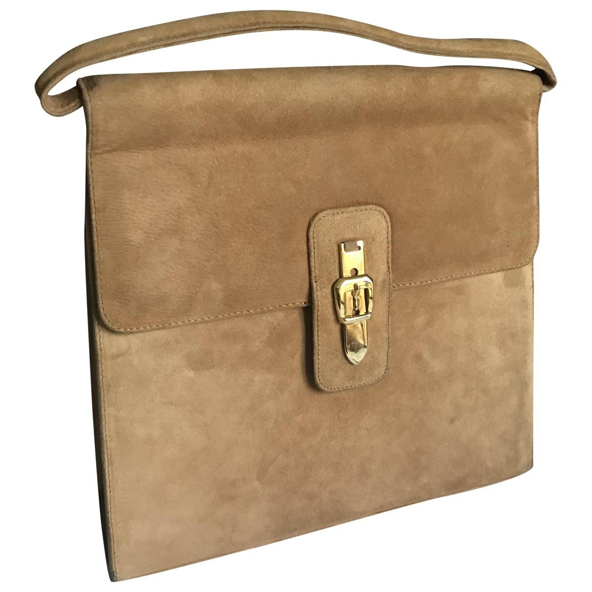 Via Roma Xv \N Camel Suede handbag for Women \N