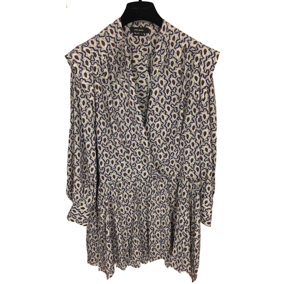 Isabel Marant \N White Silk dress for Women 38 FR