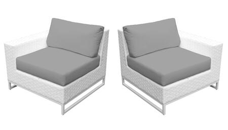 Miami TKC047b-LRAS-GREY Left Arm Chair and Right Arm Chair - Sail White and Grey