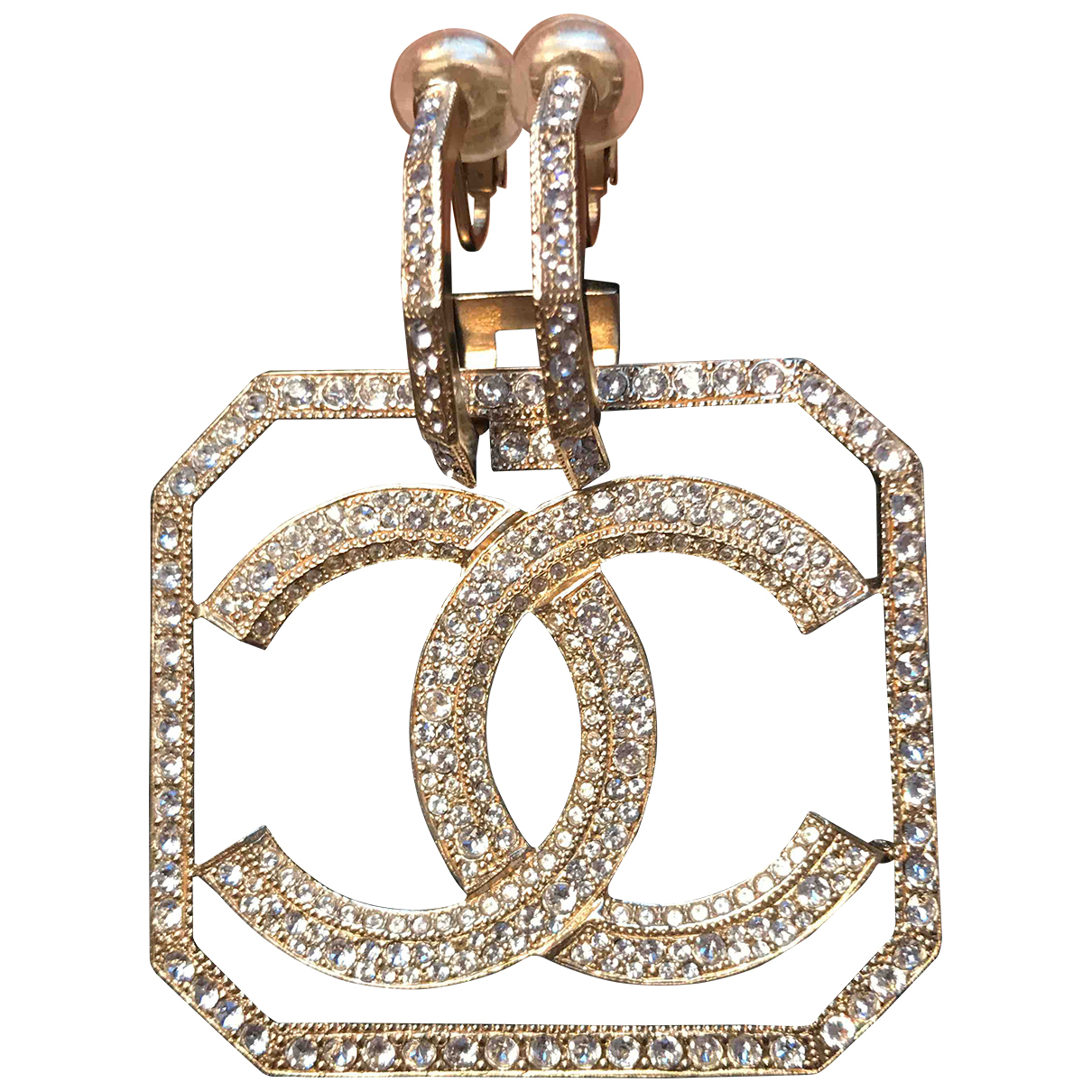 Chanel CC OhrRing in  Gold Metall