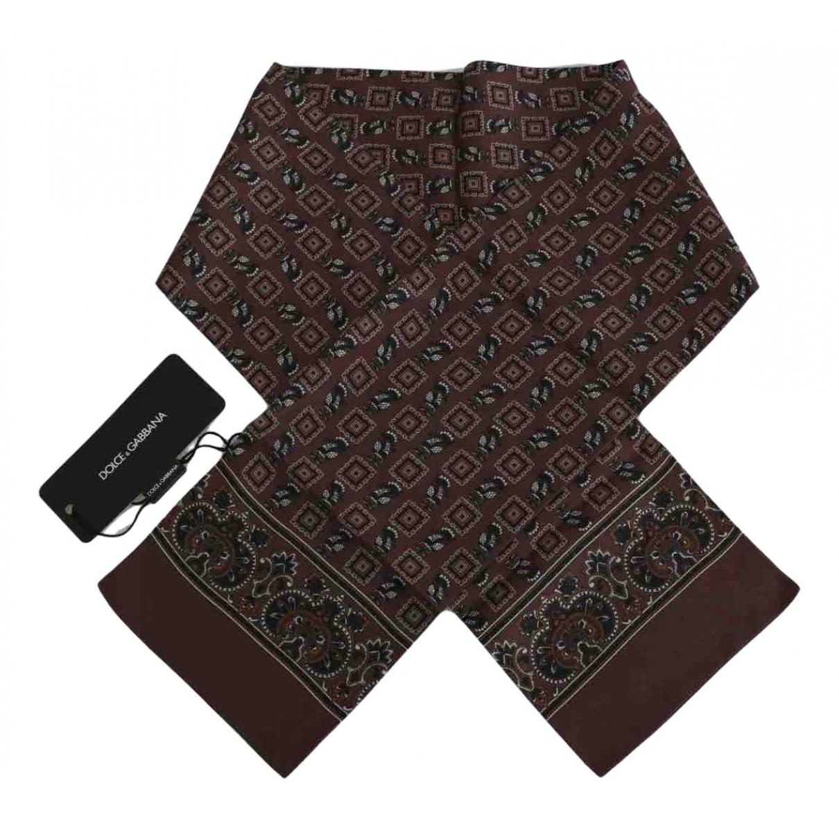 Dolce & Gabbana - Cheches.Echarpes   pour homme en soie - marron