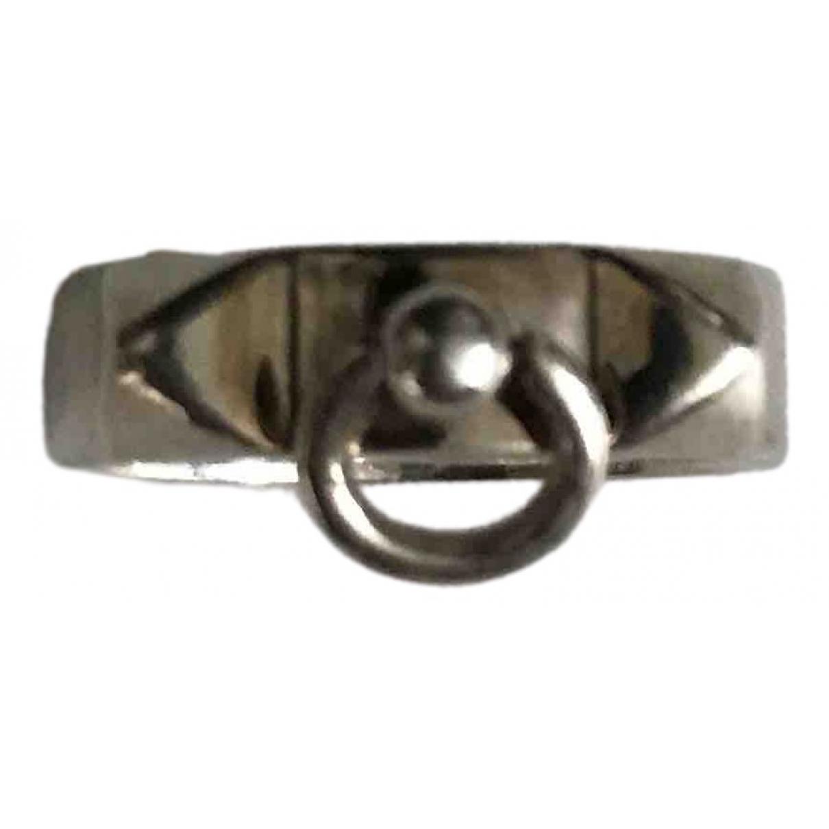 Hermes - Bague Collier de chien  pour femme en argent - argente