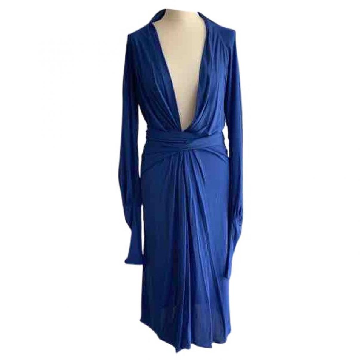 Issa \N Kleid in  Blau Viskose