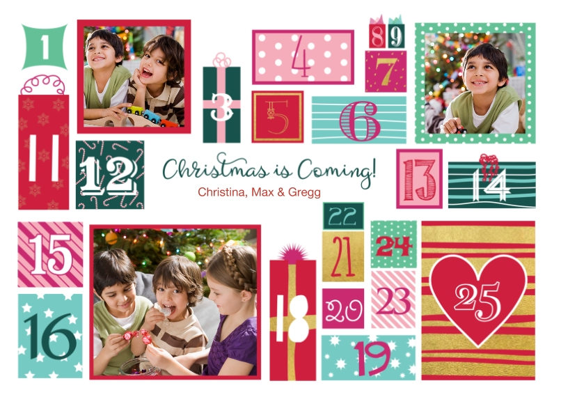 Christmas Photo Cards 5x7 Cards, Premium Cardstock 120lb, Card & Stationery -Advent Christmas