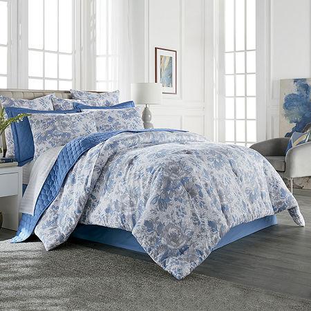 Liz Claiborne Classics Aurora 3-pc. Floral Comforter Set, One Size , Blue