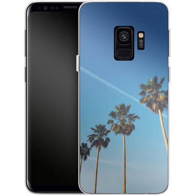 Samsung Galaxy S9 Silikon Handyhuelle - Palm Tree Paradise von Omid Scheybani