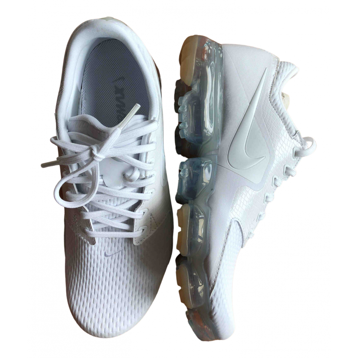 Nike Air VaporMax Sneakers in  Weiss Polyester