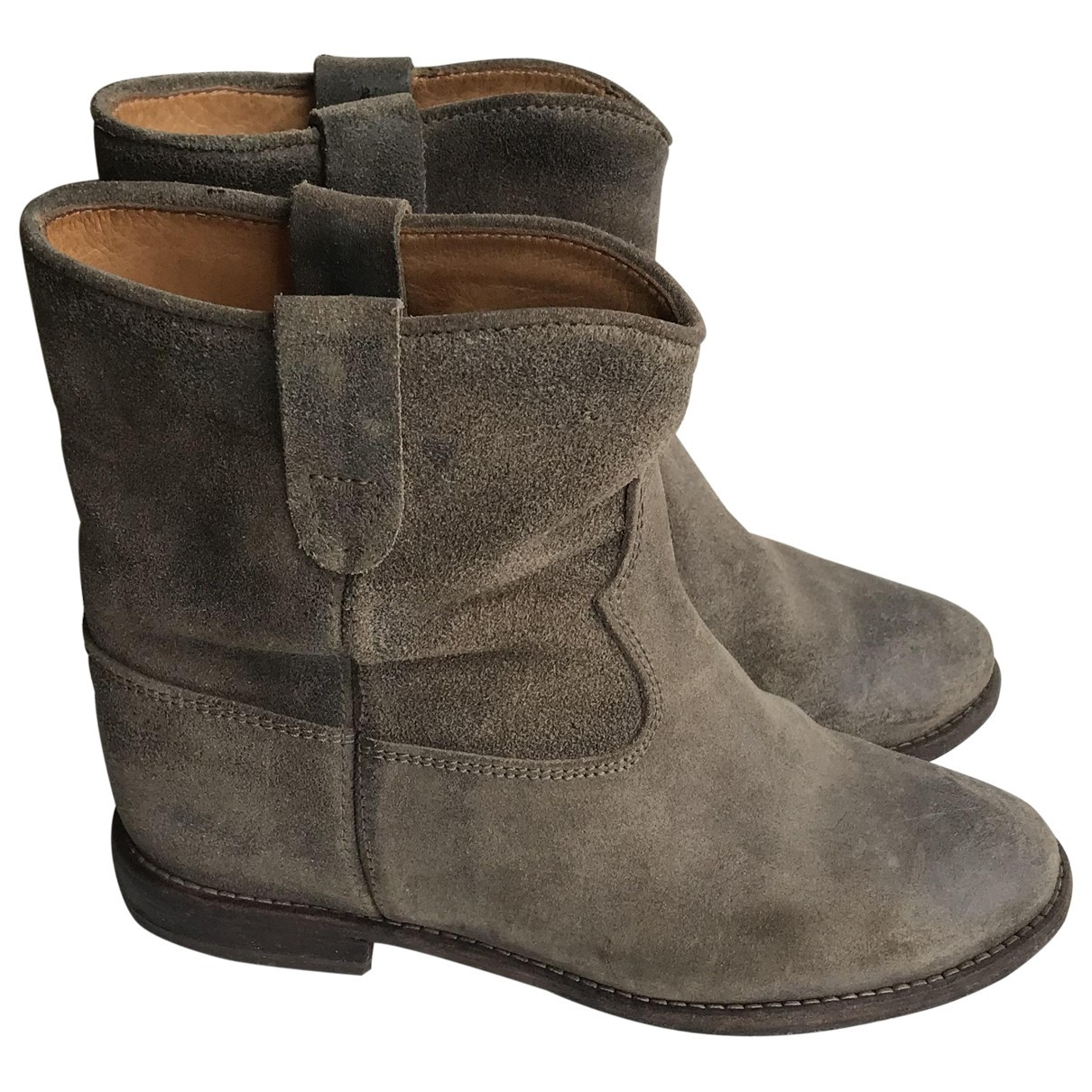 Isabel Marant Crisi  Brown Suede Ankle boots for Women 37 EU