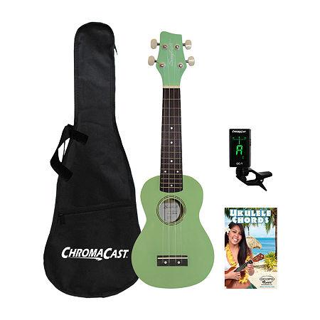 Sawtooth Basswood Ukulele Kit, One Size , Green