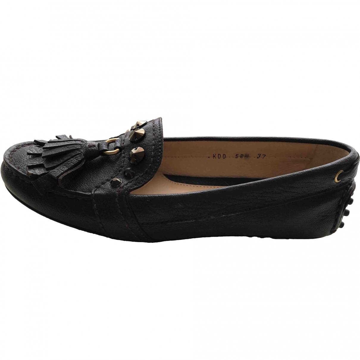 Carshoe \N Brown Leather Flats for Women 37 EU