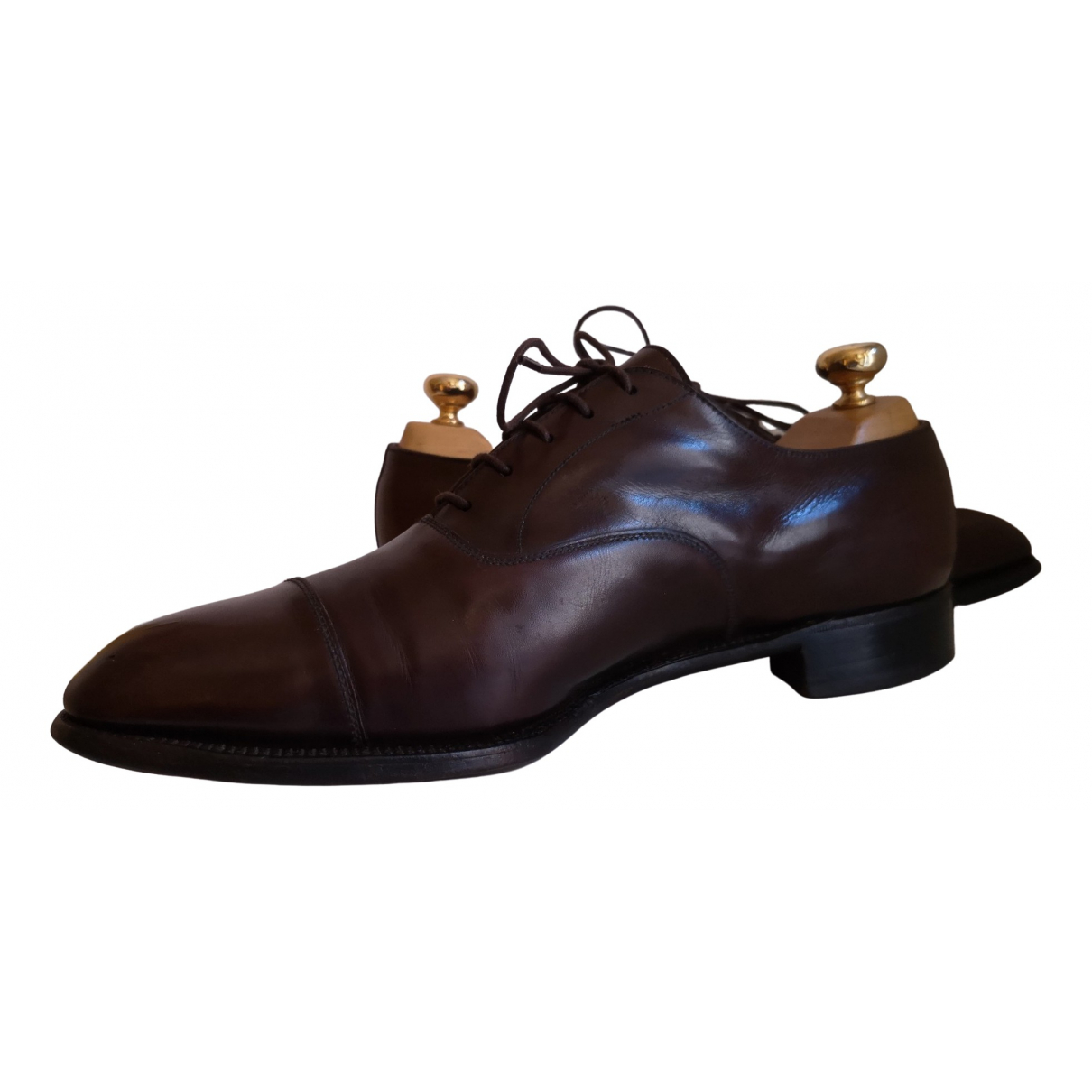 Jm Weston \N Brown Leather Lace ups for Men 42.5 EU