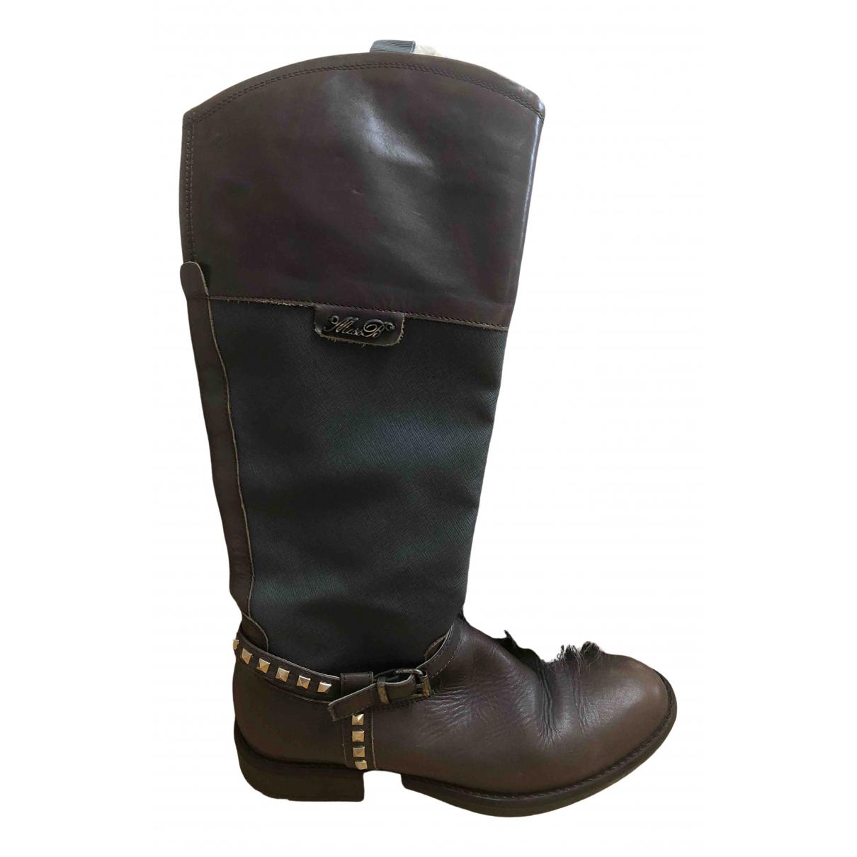Blumarine \N Stiefel in  Grau Leder
