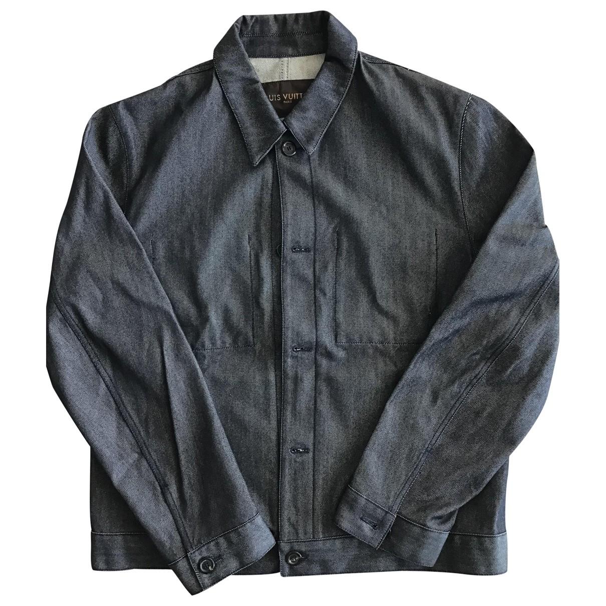 Louis Vuitton \N Blue Denim - Jeans jacket  for Men 54 FR