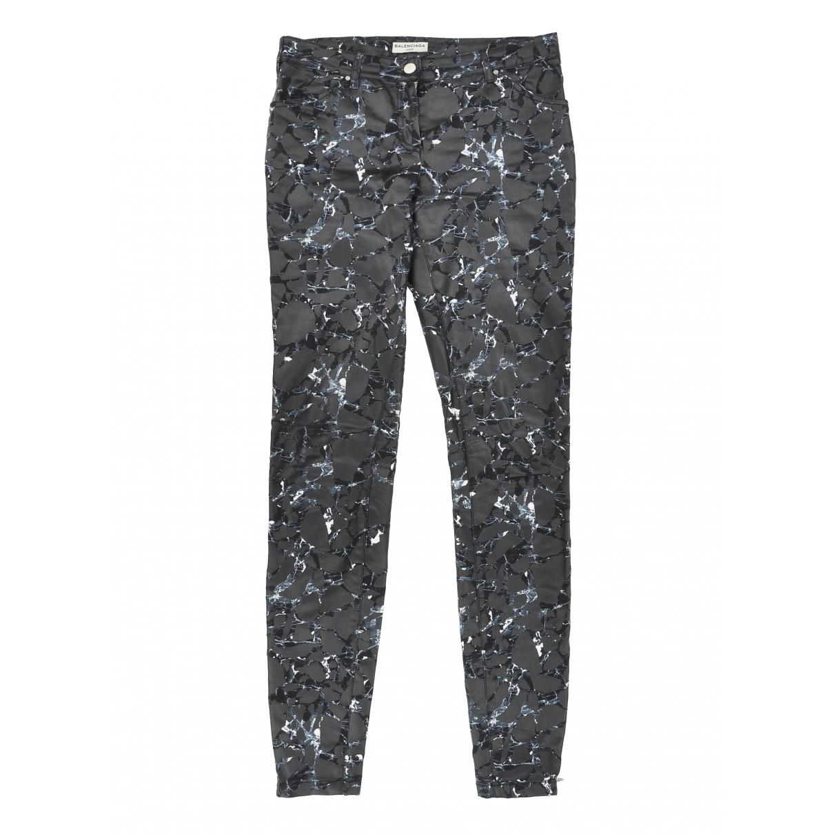 Balenciaga - Pantalon   pour femme en coton - anthracite
