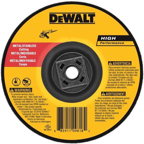 DeWalt 4 In. x .045 In. x 5/8 In.-11 Metal Cutting Wheel