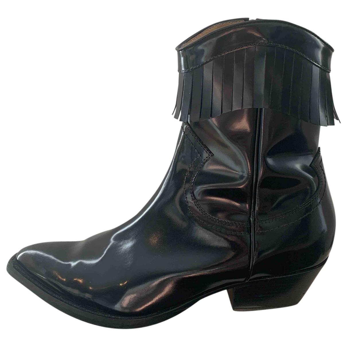 Philosophy Di Lorenzo Serafini - Boots   pour femme en cuir verni - noir