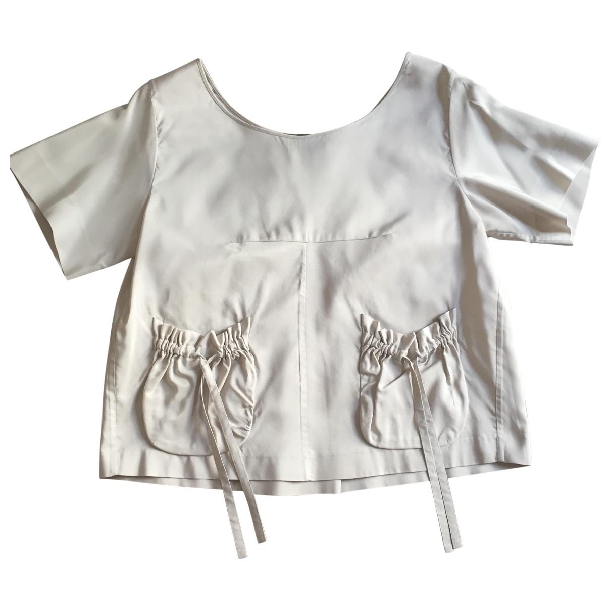 Rochas \N Grey Silk  top for Women 40 IT