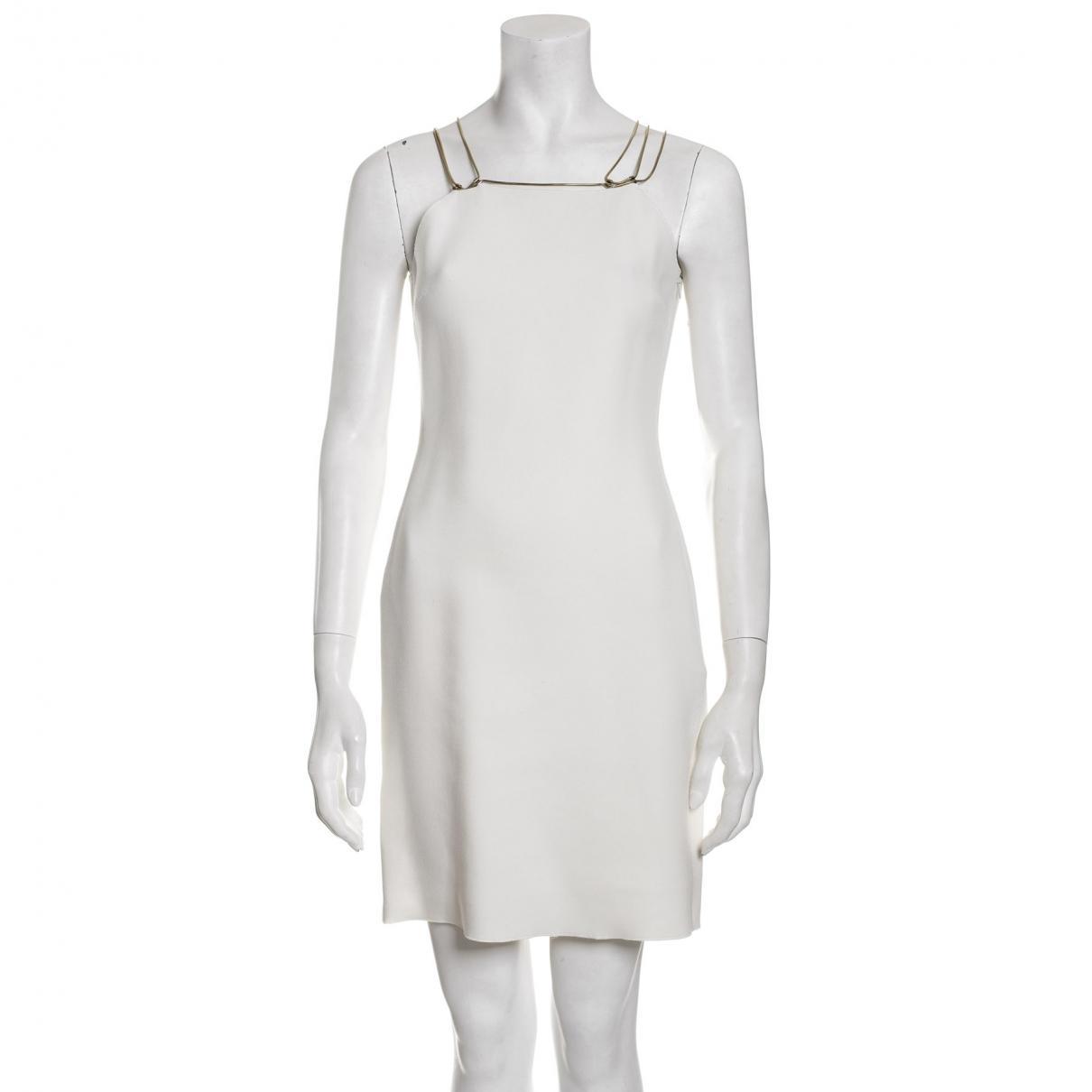 Lanvin \N Kleid in  Ecru Synthetik