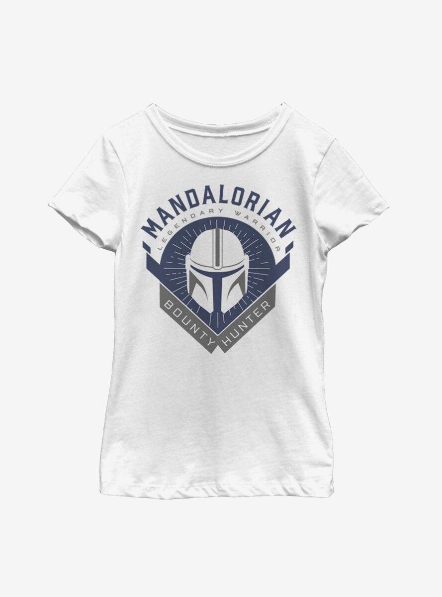 Star Wars The Mandalorian Crest Youth Girls T-Shirt