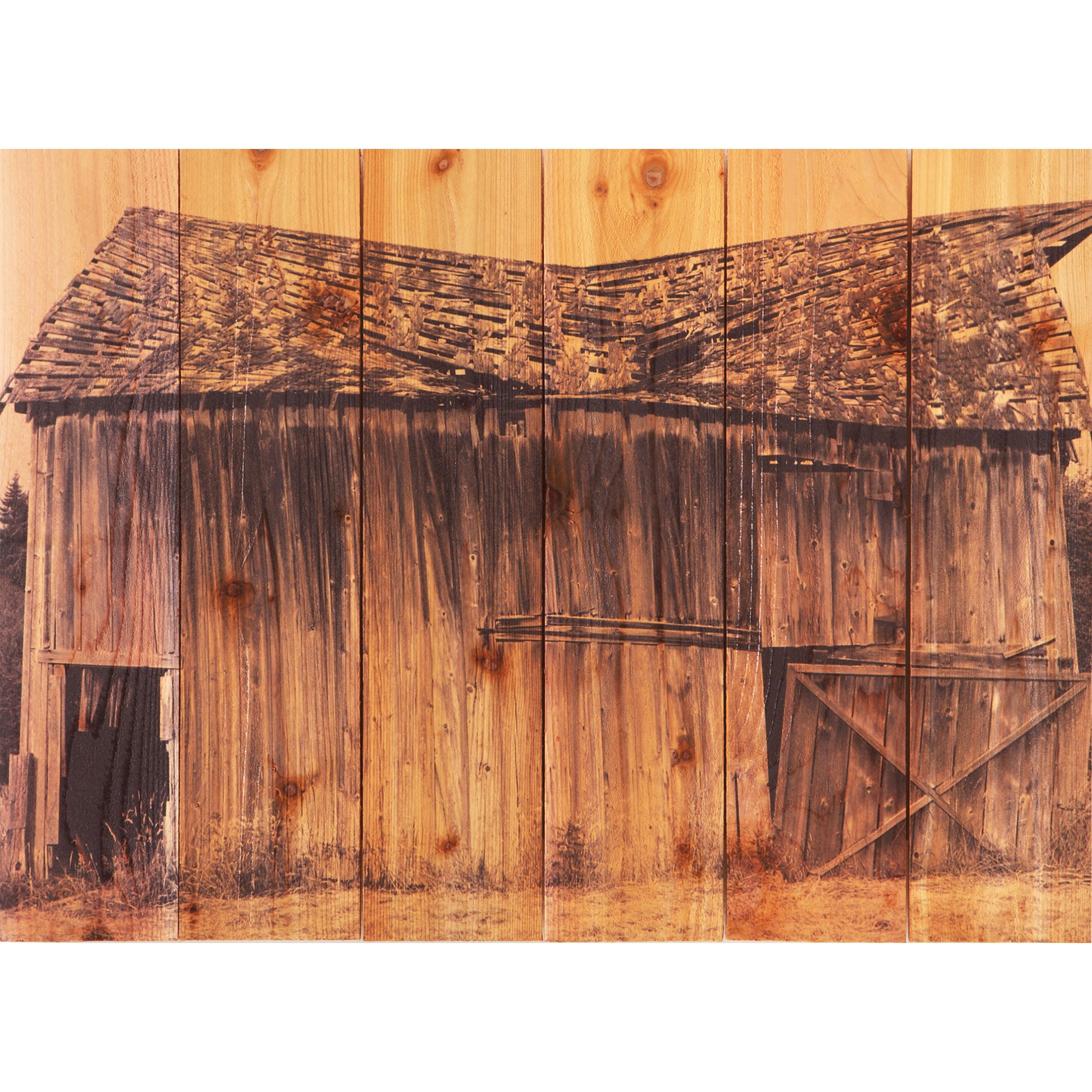 Daydream Gizaun Cedar Wall Art, Old Barn, 22.5