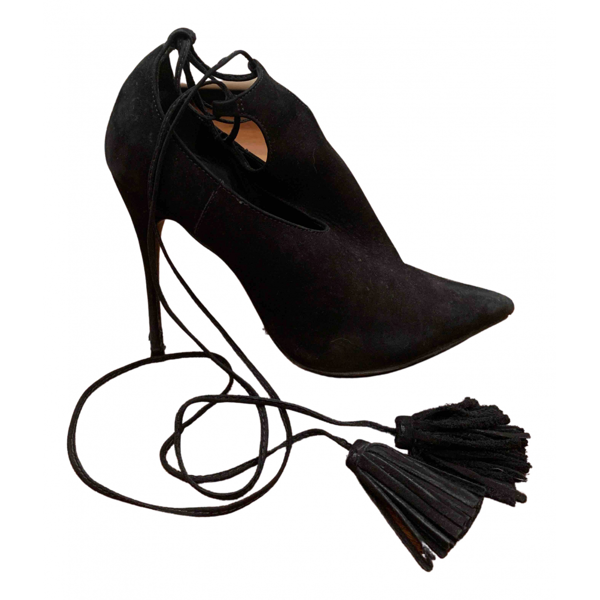 Schutz - Escarpins   pour femme en suede - noir