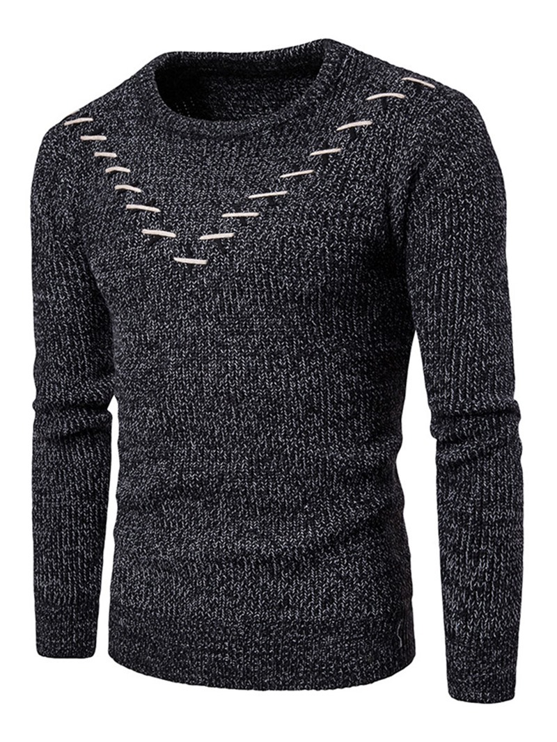 Ericdress Round Neck Slim Men's Sweater