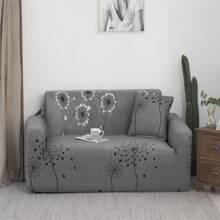 Drehbarer Sofabezug mit Lowenzahn Muster ohne Kissenbezug