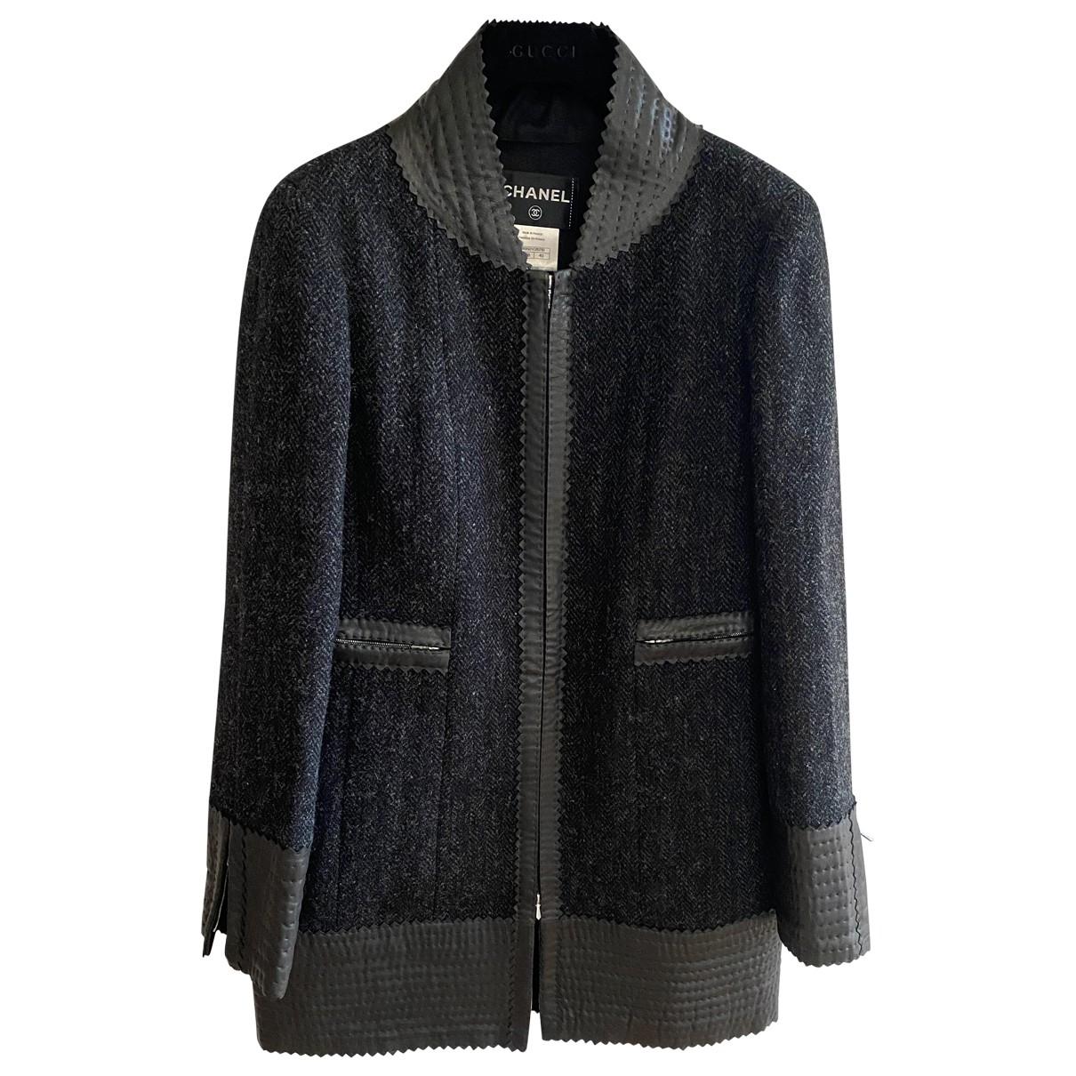Chanel \N Maentel in  Grau Wolle