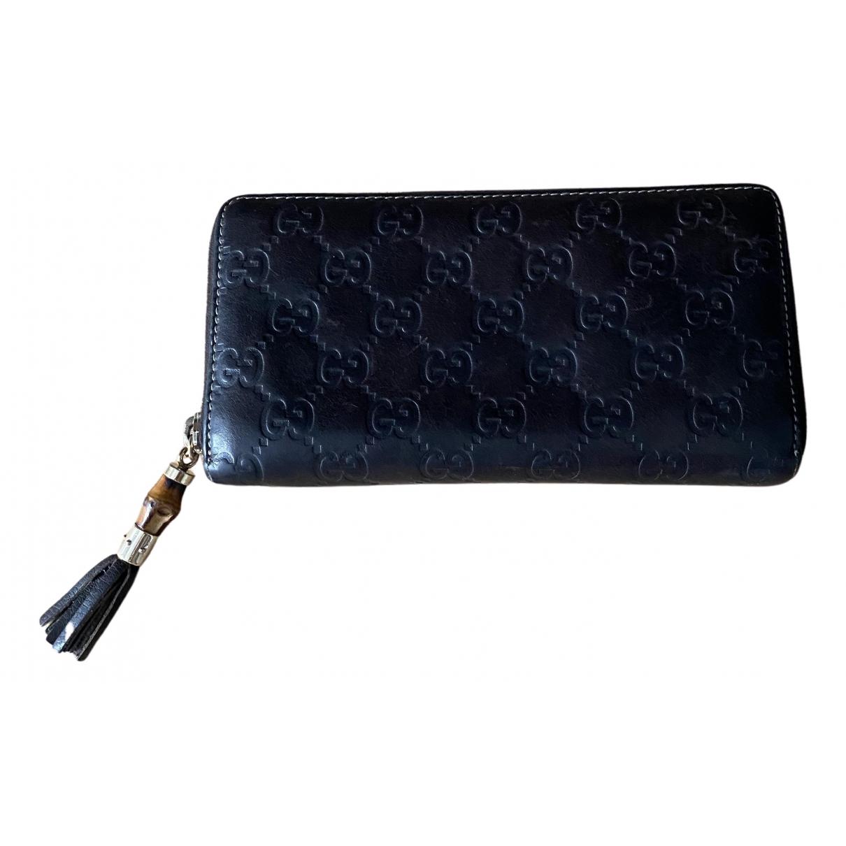 Gucci Continental Portemonnaie in  Braun Leder