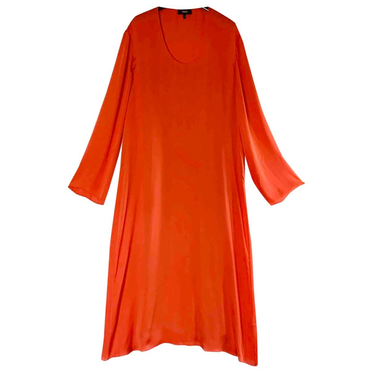 Theory \N Kleid in  Rot Seide