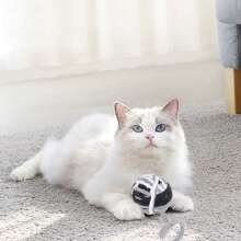 1 Stueck Flaumiger Ball Spielzeug fuer Katze